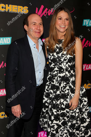 """Philippe Dauman, left, and Sutton Foster, right, attend the TV Land launch party for season two of """"Younger"""" and the premiere of """"Teachers"""" at The NoMad Hotel, in New York"""