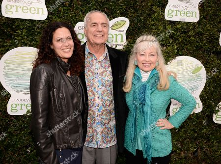 Stock Photo of From left to right, VERTE honoree Hilarie Murad, VERTE honoree Dr. Howard Murad, and Loralee Murad seen at VERTE 2015, a green evening gala benefiting Grades of Green at MBS Media Campus, in Manhattan Beach, Calif