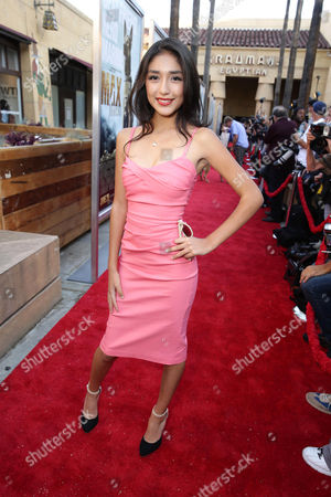 """Mia Xitlali seen at the Warner Bros. and Metro-Goldwyn-Mayer """"MAX"""" Los Angeles Premiere on"""