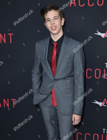 """Seth Lee arrives at the world premiere of """"The Accountant"""" at the TCL Chinese Theatre, in Los Angeles"""