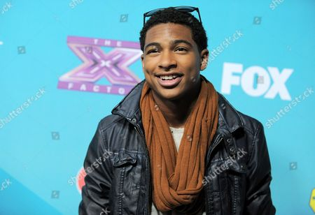 "Arin Ray, 17, of Cincinnati, OH arrives at the ""X-Factor"" Finalists Party, in Los Angeles"