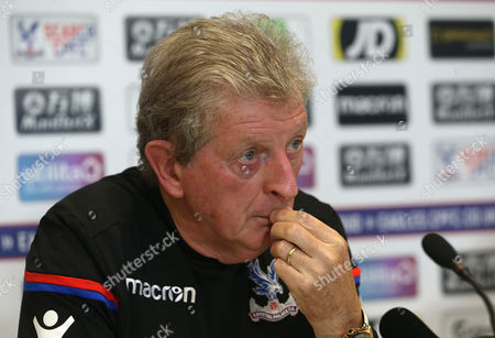 Roy Hodgson the new Crystal Palace manager looks deep in thought as he speaks to the press in his first pre match press conference ahead of the Premier League match at Selhurst Park on the 15th September between Crystal Palace and Southampton held the Crystal Palace FC Training Ground in Beckenham, Kent on 15th September 2017.