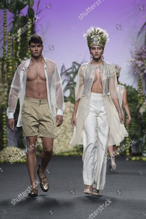 Javier Tudela on the catwalk
