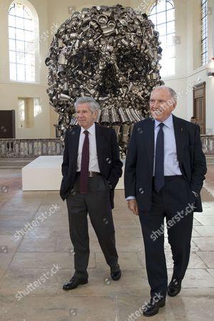 Francois Pinault and Alain Minc
