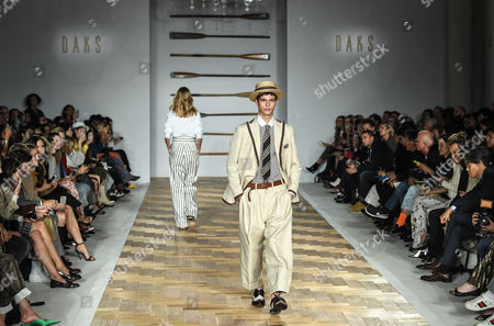 Etienne Russo on the catwalk