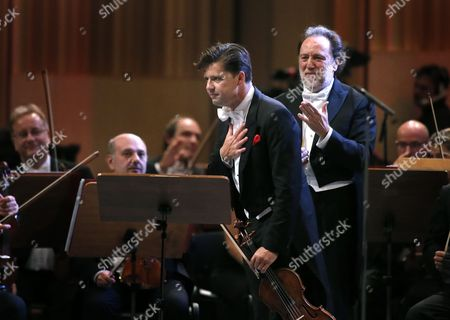 Stock Photo of Riccardo Chailly and Julian Rachlin