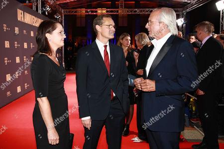 Michael Mueller mit Ehefrau Claudia and Wolf Bauer
