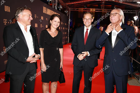 Nico Hofmann, Michael Mueller mit Ehefrau Claudia and Wolf Bauer