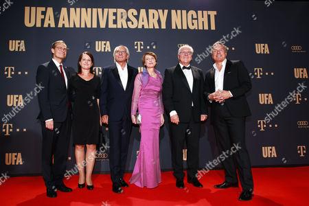 Michael Mueller mit Ehefrau Claudia, Wolf Bauer, Frank-Walter Steinmeier mit Ehefrau Elke and Nico Hofmann