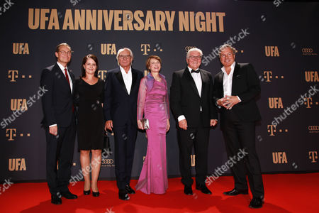 Stock Picture of Michael Mueller mit Ehefrau Claudia, Wolf Bauer, Frank-Walter Steinmeier mit Ehefrau Elke and Nico Hofmann