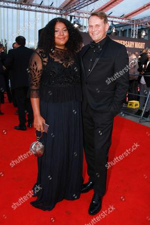 Devid Striesow mit Ehefrau Francine