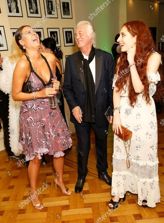 Hannah Young, Jimmy Page and Scarlett Sabet