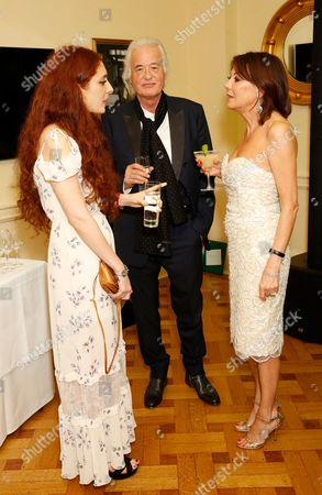 Scarlett Sabet, Jimmy Page and Susan Young