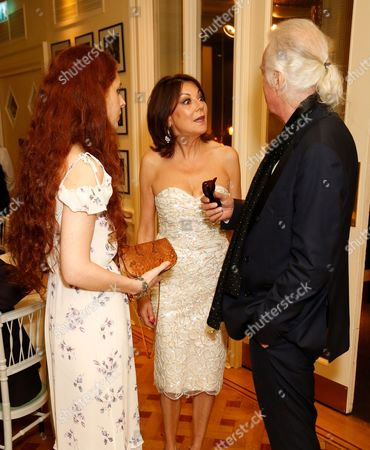 Scarlett Sabet, Susan Young and Jimmy Page
