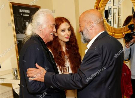 Jimmy Page, Scarlett Sabet and Richard Young
