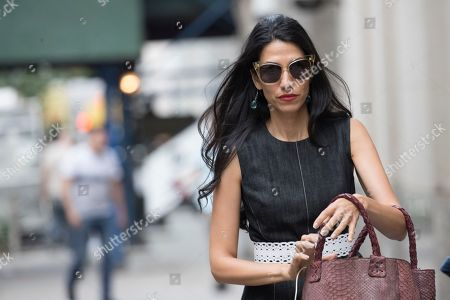 Stock Picture of Huma Abedin leaves Temple Emanu-El after the funeral service for Edie Windsor, in New York