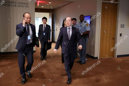 Editorial picture of Security Council consultations on North Korea, New York, USA - 15 Sep 2017