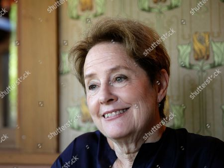 Alice Waters, founder of Chez Panisse restaurant, listens to questions during an interview at the restaurant in Berkeley, Calif. Waters will be inducted into the National Women's Hall of Fame as part of the 10-member class of 2017 on