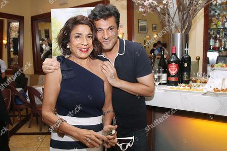 Stock Image of Rahsmi Uday Singh and Vikas Khanna