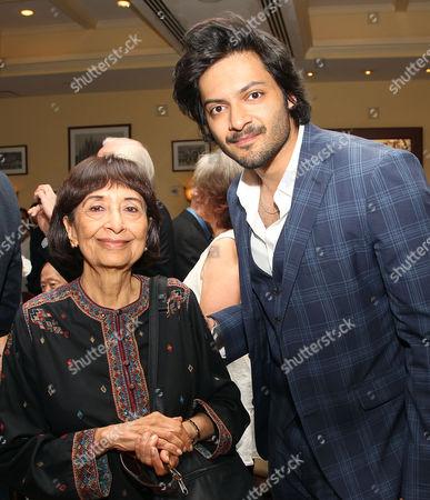 Madhur Jaffrey and Ali Fazal
