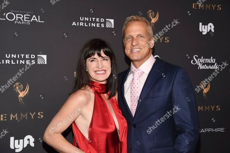 Mandy Fabian, Patrick Fabian. Mandy Fabian, left, and Patrick Fabian arrive at the 2017 Performers Nominee Reception Presented by the Television Academy at the Wallis Annenberg Center for the Performing Arts, in Beverly Hills, Calif
