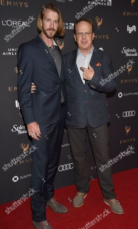 Stock Photo of Cole Cook, Peter Mackenzie. Cole Cook, left, and Peter Mackenzie arrive at the 2017 Performers Nominee Reception Presented by the Television Academy at the Wallis Annenberg Center for the Performing Arts, in Beverly Hills, Calif