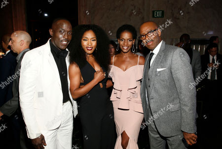 Michael K Williams, Angela Bassett, Kelsey Scott, Courtney B. Vance. Michael K Williams, from left, Angela Bassett, Kelsey Scott, and Courtney B. Vance are seen at the 2017 Performers Nominee Reception Presented by the Television Academy at the Wallis Annenberg Center for the Performing Arts, in Beverly Hills, Calif
