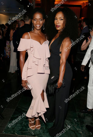 Kelsey Scott, Angela Bassett. Kelsey Scott, left, and Angela Bassett are seen at the 2017 Performers Nominee Reception Presented by the Television Academy at the Wallis Annenberg Center for the Performing Arts, in Beverly Hills, Calif