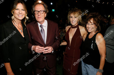 Mo Collins, Geoffrey Rush, Felicity Huffman, Mindy Sterling. Mo Collins, from left, Geoffrey Rush, Felicity Huffman, and Mindy Sterling are seen at the 2017 Performers Nominee Reception Presented by the Television Academy at the Wallis Annenberg Center for the Performing Arts, in Beverly Hills, Calif