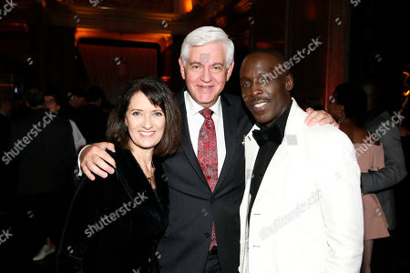 Susan Craig Winsberg, Steve Tom, Michael K. Williams. Susan Craig Winsberg, from left, Steve Tom, and Michael K. Williams are seen at the 2017 Performers Nominee Reception Presented by the Television Academy at the Wallis Annenberg Center for the Performing Arts, in Beverly Hills, Calif