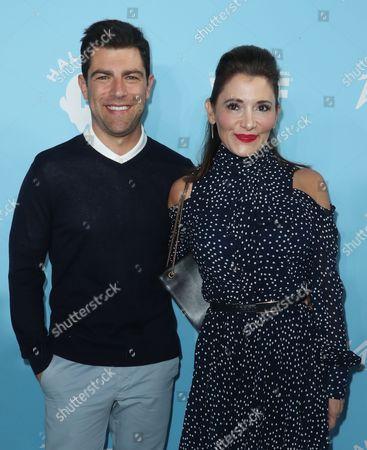 Max Greenfield and Tess Sanchez