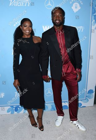 Gabrielle Union, Dwayne Wade. Gabrielle Union and Dwayne Wade arrive at the 69th Primetime Emmy Awards Variety and Women in Film pre-Emmy celebration on in Los Angeles