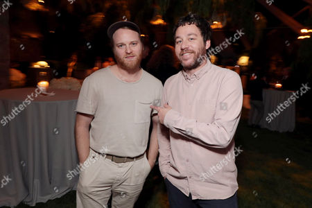 Kyle Dixon and Michael Stein seen at Netflix annual Emmy Nominee toast at the home of Ted Sarandos and Nicole Avant in Los Angeles, CA on September 15, 2017