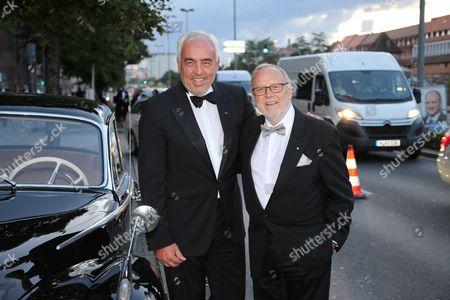 Stock Image of BMW Berlin Chef Hans Rainer Schroeder mit Regisseur Joseph Vilsmaier