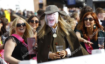A John McCririck lookalike at Chester Races.