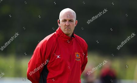 Steve Perry, head coach of Barnstaple during the National League 2 South match between Taunton Titans and Barnstaple at Hyde Park, Taunton on September 16th 2017 ,Taunton , Somerset(Photo by Alex Davidson/PPAUK)