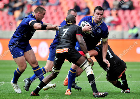Southern Kings vs Leinster. Leinster's James Ryan tackled by Schalk Ferreira of the Kings