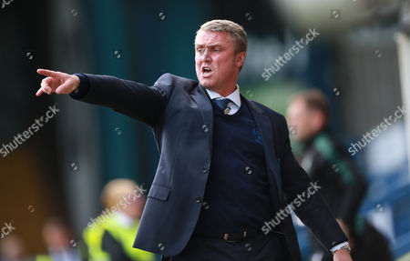 Bury manager Lee Clark during the Sky Bet League 1 match between Bury and Plymouth Argyle on Saturday 16th September 2017 The Energy Check Stadium, Bury, Lancs