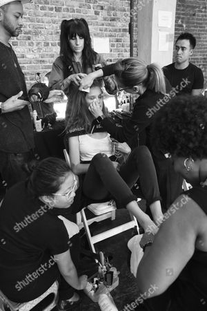 Editorial photo of Zadig & Voltaire show, Backstage, Spring Summer 2018, New York Fashion Week, USA - 11 Sep 2017