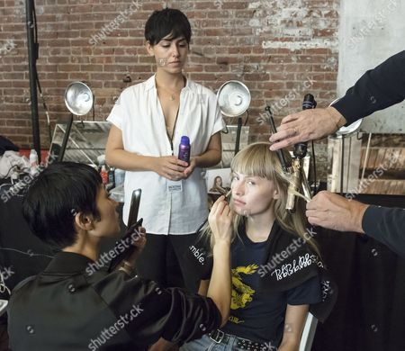 Editorial picture of Zadig & Voltaire show, Backstage, Spring Summer 2018, New York Fashion Week, USA - 11 Sep 2017