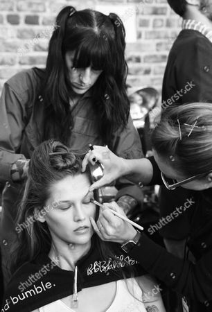 Editorial image of Zadig & Voltaire show, Backstage, Spring Summer 2018, New York Fashion Week, USA - 11 Sep 2017