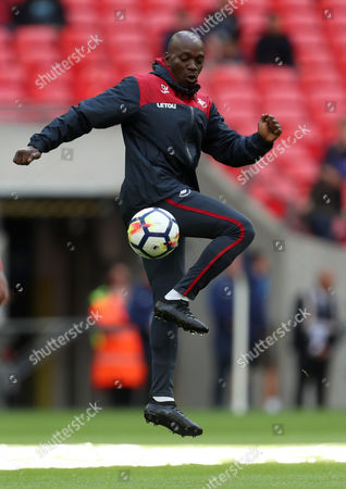 Swansea assistant coach, and former Chelsea player, Claude Makelele during the match between Tottenham Hotspur and Swansea City in the English Premier League at Wembley Stadium, London, UK, 16 September 2017