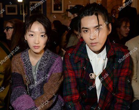 Stock Photo of Zhou Dongyu and Kris Wu