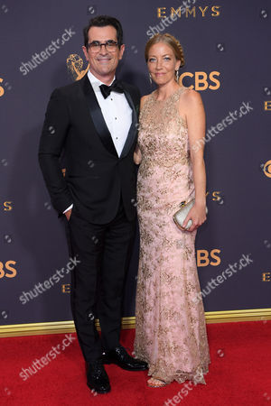 Stock Photo of Ty Burrell and Holly Burrell