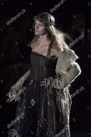 Stock Image of Anja Voskresenska on the catwalk