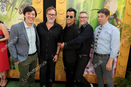 Dan Lin, Producer, Chris McKay, Producer, Justin Theroux, Charlie Bean, Director, Christopher Miller, Producer,