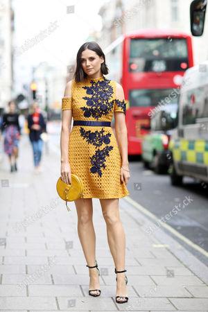 Editorial photo of Street Style, Spring Summer 2018, London Fashion Week, UK - 15 Sep 2017