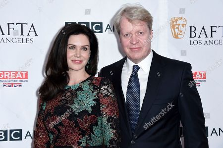Countess Karen Spencer, Charles, 9th Earl of Spencer. Countess Karen Spencer and Charles, 9th Earl of Spencer attend the BAFTA Los Angeles TV Tea Party at the Beverly Hilton Hotel, in Beverly Hills, Calif