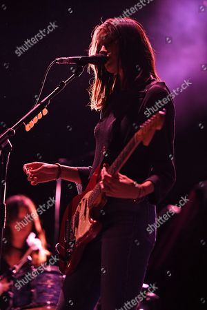 Editorial photo of Warpaint in concert at the American Airlines Arena, Miami, USA - 15 Sep 2017