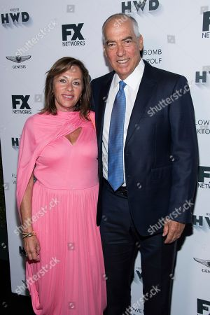 Jeanne Newman, Gary Newman. Jeanne Newman and Gary Newman attend the FX Networks and Vanity Fair pre-Emmy party at CRAFT, in Los Angeles